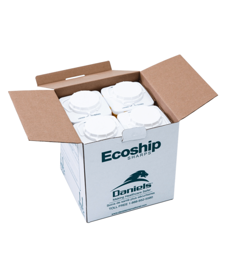 Ecoship Small Single-Use Sharps Container Kit Small