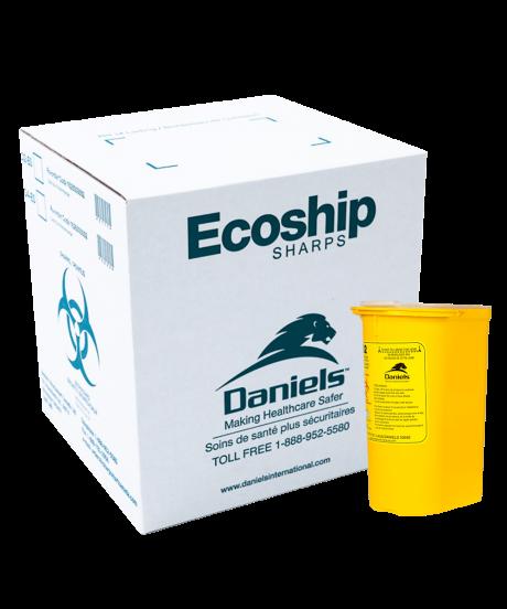 Ecoship Small Single-Use Sharps Container Kit