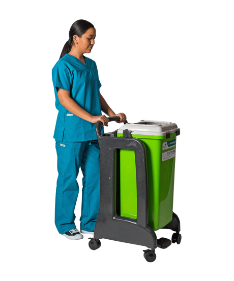 R14 Surgismart Device Recovery Container With Mobile Cart